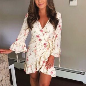 White floral dress from H&M